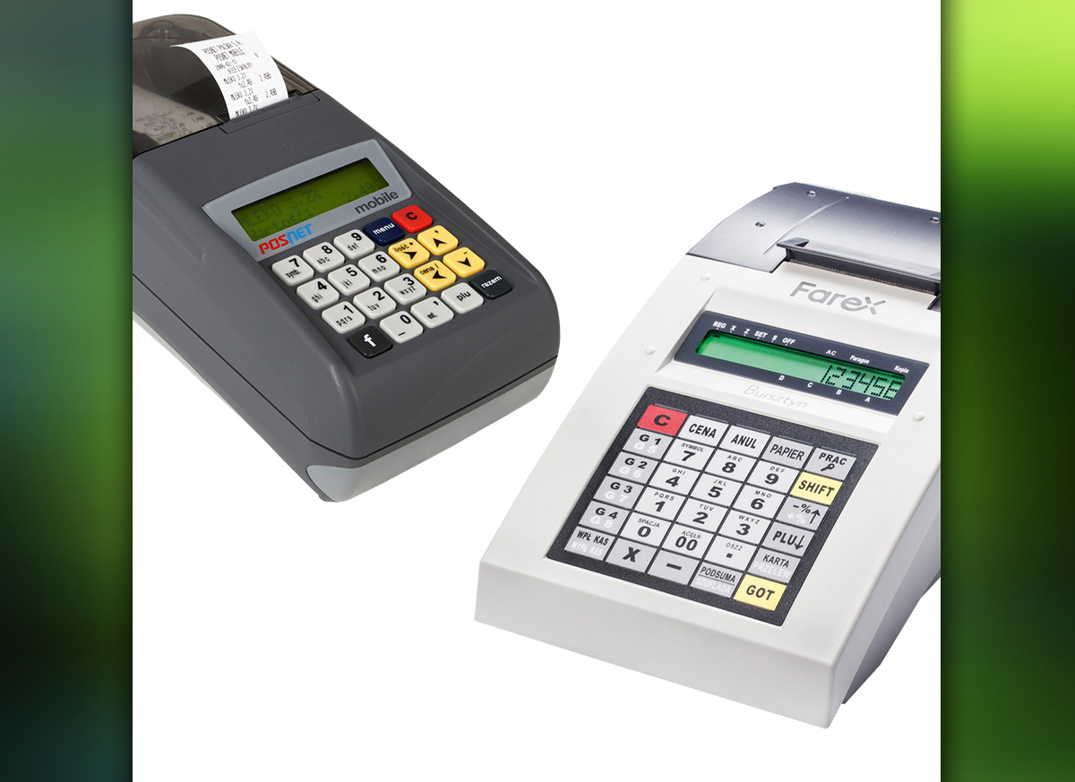 kasy fiskalne Posnet Mobile EU i Farex Bursztyn