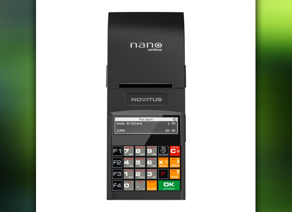 Novitus Nano Online - przenośna kasa rejestrująca